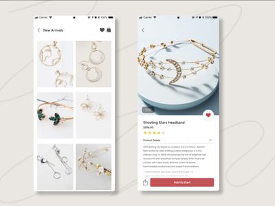 Mobile e-commerce (jewelry) mobile app mobile ux ui design