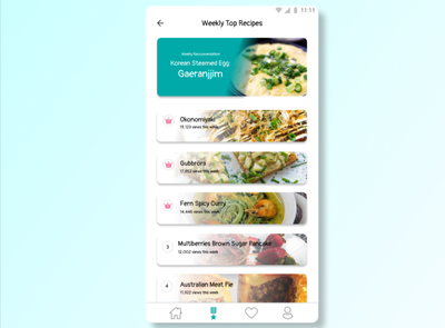 Leaderboard UI (Cooking App) mobile app mobile figma ui ux design