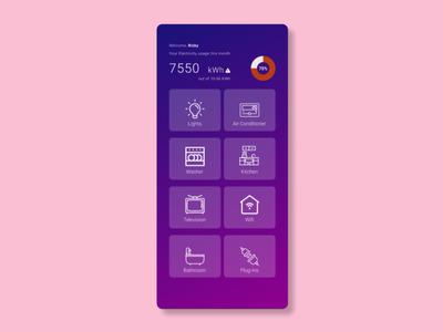 Home monitoring mobile app mobile figma ui ux design