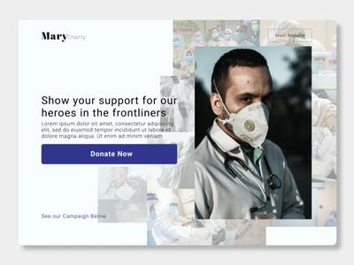 Crowdfunding website UI webdesign web figma ui ux design
