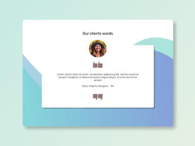 testimonial UI webdesign web figma ui ux design