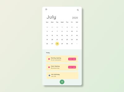 calendar UI ux figma ui design