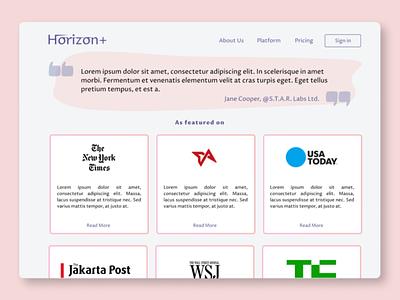 Press Page UI webdesign web figma ui ux design
