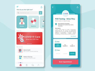 Health App (mobile) illustration mobile app figma ui ux design