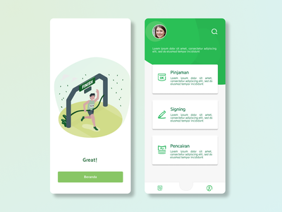 success message + dashboard mobile mobile app figma ui ux design