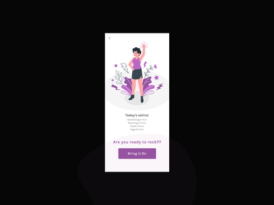 Workout of the day illustration mobile mobile ui figma ui ux design