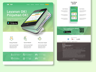 OKP2P Landing Page Reimagined landing page design landing page webdesign web figma ui ux design