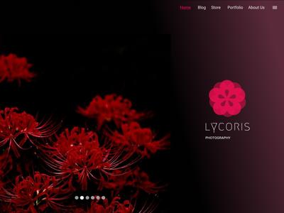 Lycoris (Photography website UI design)
