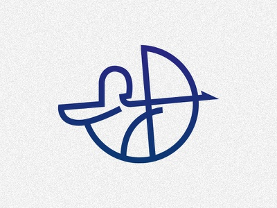 Archer Logo brand simple modern lineart abstract archer