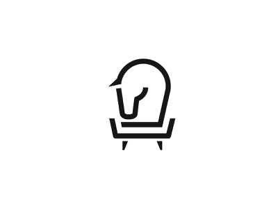 Furniture Horse Icon branding modern abstract simple logo furniture armchair horse