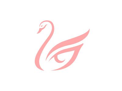 Swan Beauty Logo Icon Mark logo animal simple lineart icon branding feminine swan logo modern abstract makeup eye cosmetics beauty swan