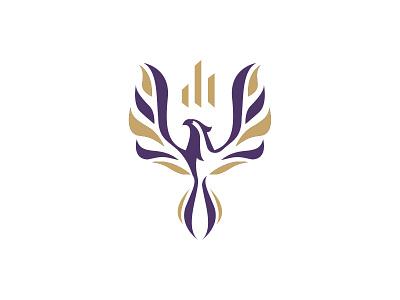 Phoenix Financial Logo Design security luxury abstract finance financial accounting rebirth renew phoenix
