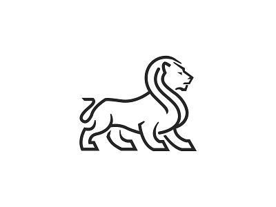 Lion lion modern animal logo icon lineart simple