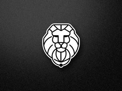 Lion Head modern simple design lion logo icon lineart