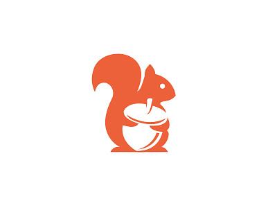 Squirrel Icon Logo negativespace minimal squirrel animal logo icon simple