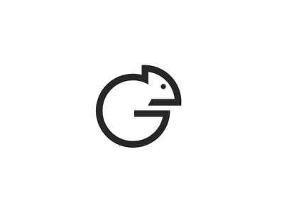 Cameleon G Icon Mark cameleon simple icon logo