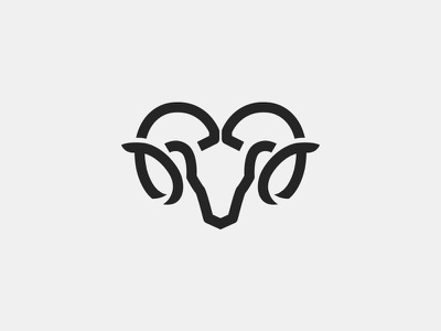 Ram Abstract Lineart for sale minimal abstract line logo ram