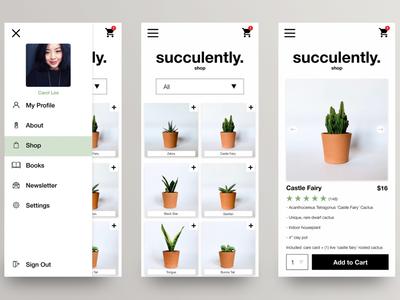 Mobile Succulent eCommerce Concept