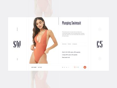 SW - info V.2 bag product user interface fashion swimwear cart shop web web design user clean ux design ui