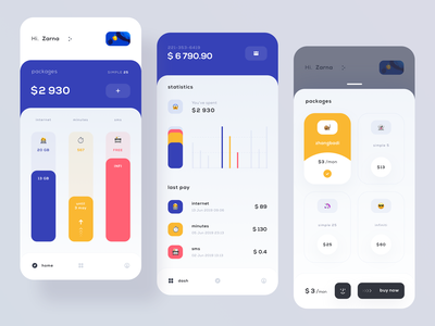 Mobile Balance account statistics dashboard pay payment card balance application mobile ios user interface user clean app ux design ui