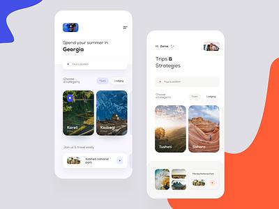 Trip search account ios application travel trip mobile user interface user clean app design ux ui