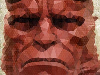 Hb 1 hellboy man demon devil son horns hero superhero miller human mammal cubism facets cubist