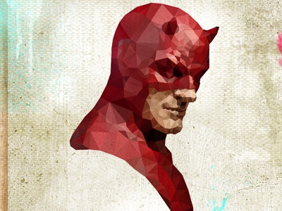 Daredevil 2 daredevil man hero superhero human blind mask face cubist cubism facets miller