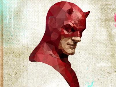 Daredevil 2 daredevil man hero superhero human blind mask face cubist cubism facets miller