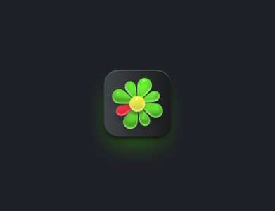 ICQ Big Sur skeuomorphism sur big sur big icq design illustration icon