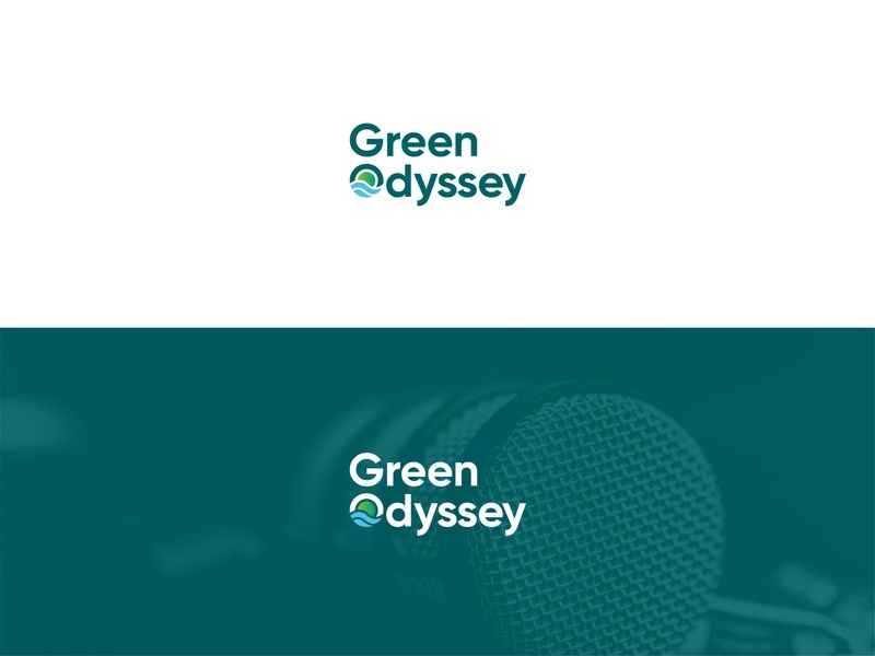Green Odyssey Logo Concept g logo podcast logo green logo minimalist logo logo mark logo studio logo identity digital logo clean logo branding