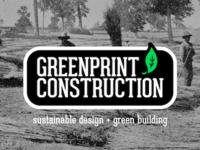 Green Building Construction Logo