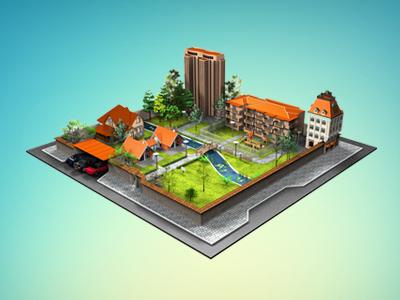 Little City city 3d visualisation buildings