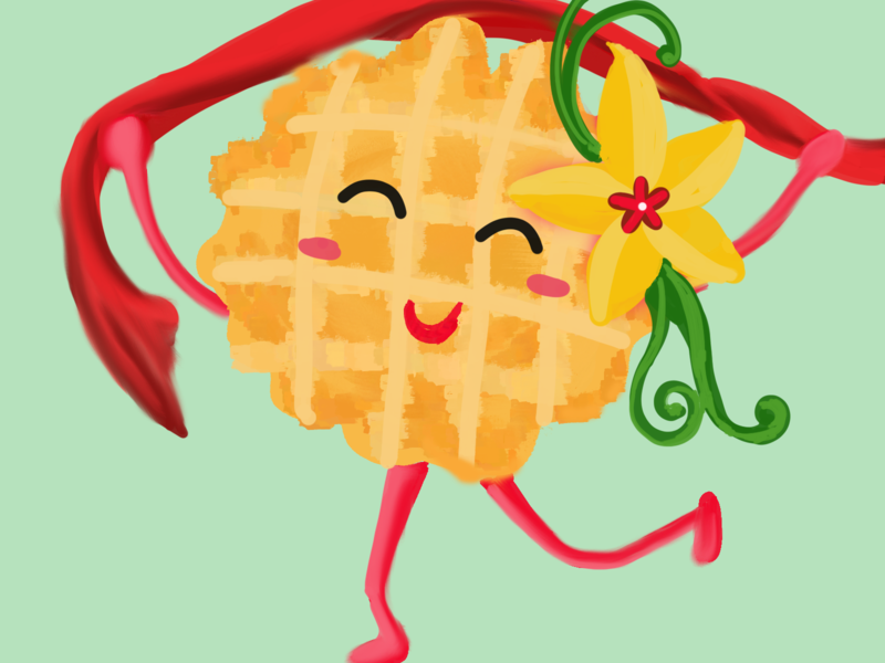 Winning Waffle 2d character theme adobe photoshop design artwork colorful creative photoshop illustration