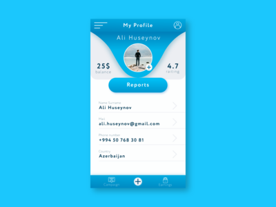 Daily UI #6 User Profile