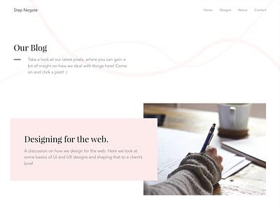 Step Negate - Blog Home design minimal ux ui