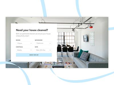 Cleaner Booking - UI Concept design minimal ux ui