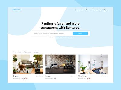 Renteroo - UI Concept design minimal ux ui