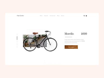 Bike E-Commerce Concept website minimal ux ui