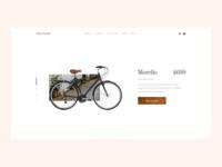 Bike E-Commerce Concept
