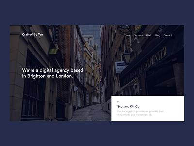 Agency UI Concept website minimal ux ui