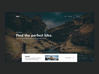 Hikr UI Concept website minimal ux ui