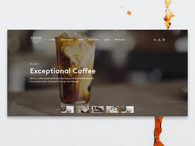 Exceptional Coffee UI Concept coffee website minimal ux ui