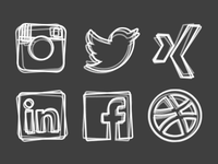 some sketchy social media icons