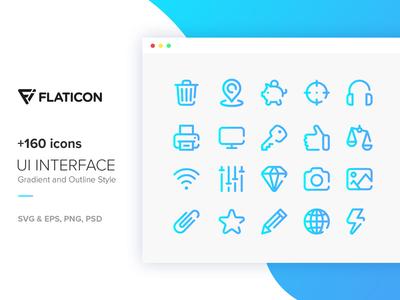 +160 Icons - UI Interface