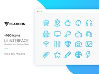 +160 Icons - UI Interface