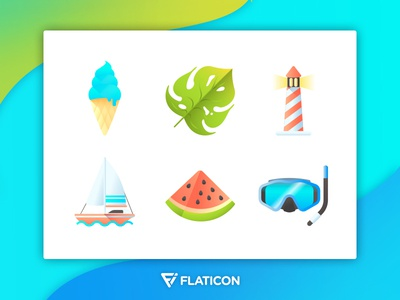 Summertime Icon Set
