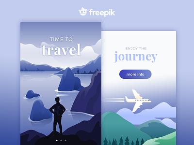 Travel App inspiration adventure app design responsive ux ui flat illustartion travel
