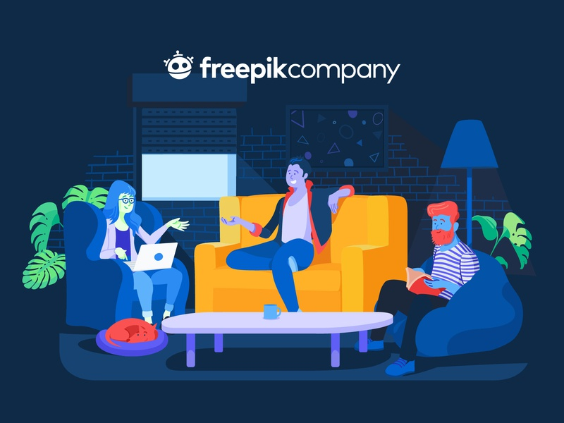 Freepik Company Illustration