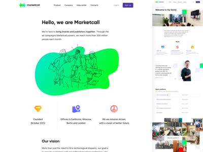 Marketcall website WIP