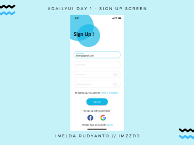 Daily UI #001 - Sign up UI